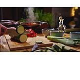 Preparation, Cutting, Zucchini
