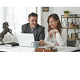 Office, Teamwork, Together, Desk, Colleagues