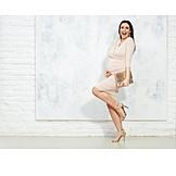 Woman, Elegant, Fashion, Fun, Pregnancy