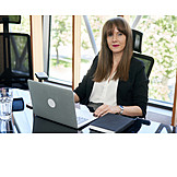 Business Woman, Office, Desk