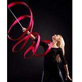 Ribbon, Dancer, Gymnastics