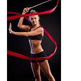Ribbon, Dancing, Dancer, Gymnastics