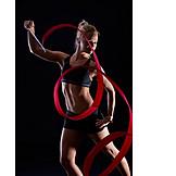 Ribbon, Gymnastics, Dancer, Gymnastics