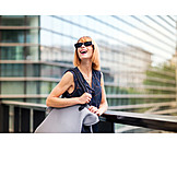 Woman, Happy, On The Move, Redhead, Chic