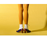 Fashion, Retro, Yellow, Pantyhose, Ankle Boots
