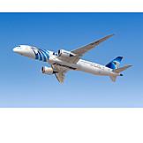 Airplane, Flying, Egyptair