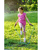Girl, Childhood, Jumping Rope