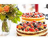 Birthday Cake, Cake, Berry Pie