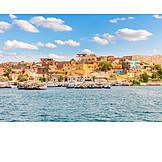 Houses, Egypt, Boats, Nile River