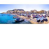 Beach, Fishing Boats, Palermo