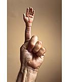 Index finger, Doll hand