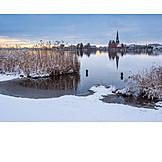 Winter, Warnow, Rostock