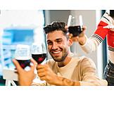 Alcohol, Celebrations, Friends, Toast